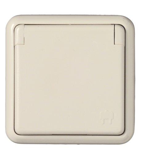 UNITEC 40498 Steckdose 1-Fach FR Unterputz, weiߟ Feuchtraum