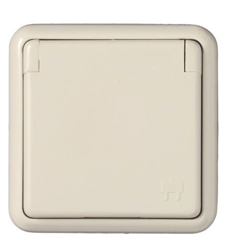 Preisvergleich Produktbild UNITEC 40498 Steckdose 1-Fach FR Unterputz,  wei Feuchtraum