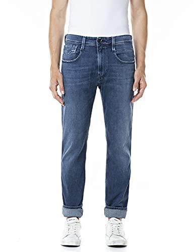 REPLAY Anbass Jeans, 007 Blu Scuro, 34W x 32L Uomo