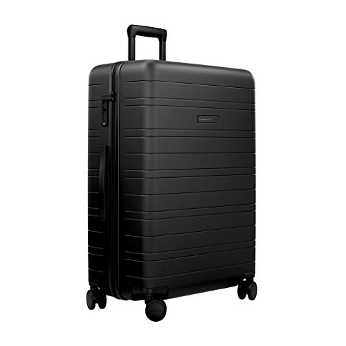 HORIZN STUDIOS H7 Check-in Luggage (90 L) with an inbuilt Compression Pad. for Trips 14+ Days. (All Black)