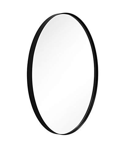 ANDY STAR Black Oval Wall Mirror for Bathroom, 20x28x1 Black Framed Mirror -