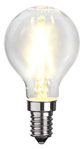 Tecstar Star Décoration de Jardin, Filament LED, E14, 2700 K, 80 RA, A +, Transparent, 4,5 x 4,5 x 8,3 cm, 352–18
