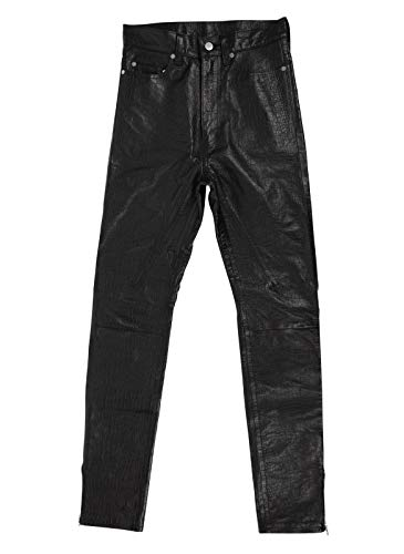 Takahiromiyashita Men's The Soloist Lambskin Jeans Pants 46/30 Black