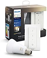 Philips Hue White Ambiance Zestaw do Przyciemniania LED - 1 żarówka E27 Bluetooth i pilot (regulator z funkcją...