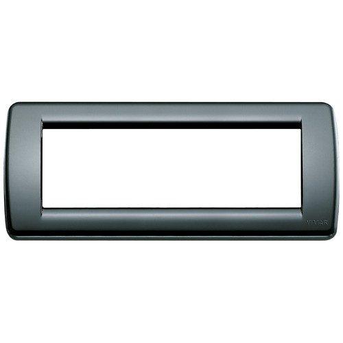 Vimar 16766.16 Serie Idea Placca Rondo 6 modulo plastico, nero, 19.8 x 8.2 x 0.9 cm