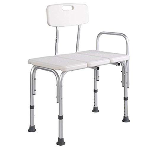 Banco de transferencia de bañera - Banco de transferencia de baño y ducha de alta resistencia - Silla de ducha ajustable para discapacitados con respaldo reversible - Ayuda médica de baño para discapa 🔥