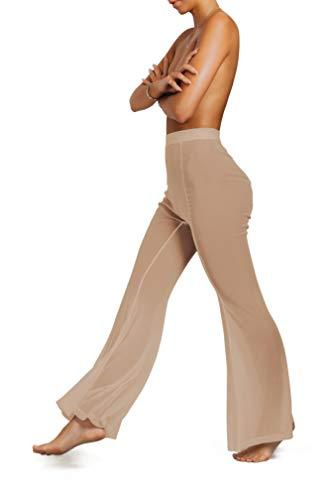 sofsy Mesh Badpak Cover Up Broek voor Dames Lichte Doorzichtige Cover Up Broek voor op het Strand Sexy Zwemkledij