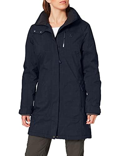 Schöffel Monterey2 damski płaszcz zimowy niebieski niebieski (Night Blue) 44