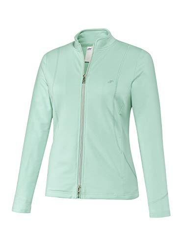 Joy Sportswear Dorit Sweatjacke für Damen aus Baumwoll-Stretch-Stoff mit Stehkragen, figurbetonte Sport- und Outdoorjacke für Aktivitäten wie Running oder Fitness 38, Mint
