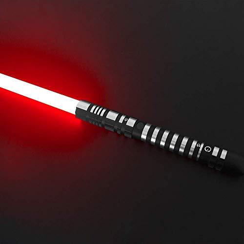 Lightsaber, versión que cambia de color 9W Lde lámpara de cuentas de luz uniforme, 16 colores, atenuación de 3 juegos de efectos de sonido, serie Force FX negro duelo luz sable negro hilt(RGB)