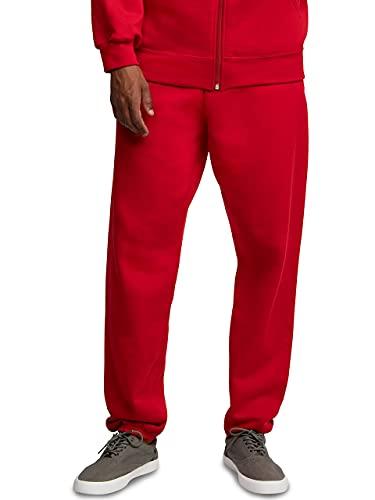 Fruit of the Loom Men's Eversoft Fleece Sweatpants, Red, Large