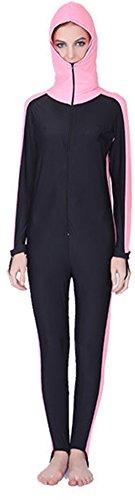 yeesam par Mujer Hombre Traje De UV UPF  50–swetsuit Traje de buceo traje Overall Watersport burkini, Damen Rosa