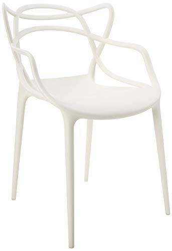 Kartell 0586603 Masters Essstühle, Plastik, weiß, 55 x 83 x 53.5 cm, 4 Stühle