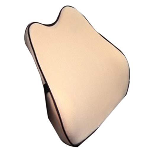 Wusuowei Almohada de asiento de coche para dolor de cuello, gran soporte para cuello, almohada de apoyo lumbar, almohada lavable, almohada desmontable