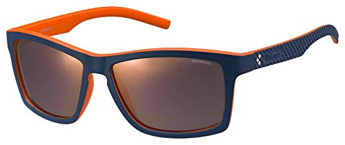 Polaroid PLD 7009/S OZ 9A5 Gafas de sol, Azul (Bluette Orange/Red Grey Speckled Pz), 57 para Hombre