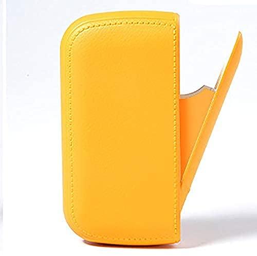Liyaya Pitillera con mechero, mechero eléctrico USB, sellado contra la humedad, para 10 cigarrillos normales o 20 cigarrillos finos, color amarillo