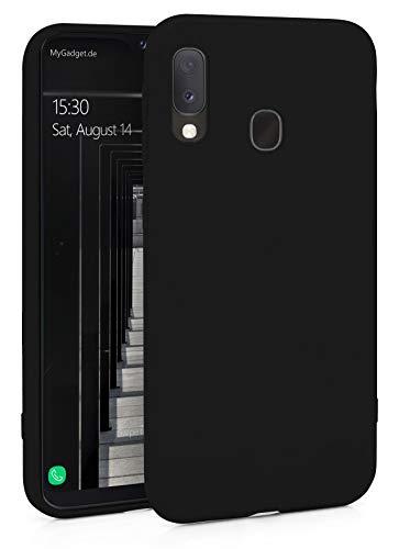 MyGadget Silicone Case Cover voor Samsung Galaxy A20e - ruw beschermhoesje TPU Case Slim Silicone Case Back Cover ultra krasbestendig Black Mobile Phone Case