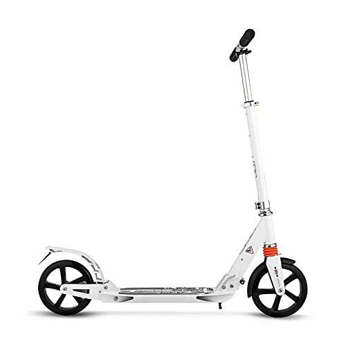 MYAOU Stunt Scooter para niños Scooter de 2 Ruedas Plegable en línea Racing Kick Sport Ride-On Big Wheel para Adolescentes Mayores, Adultos pequeños (Blanco)