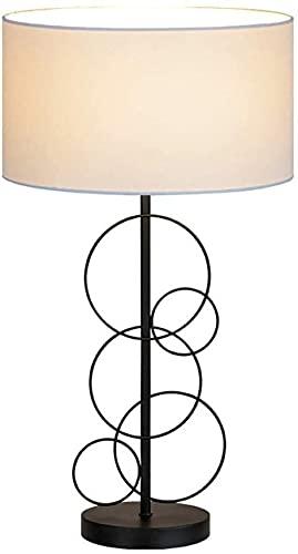 Rnwen Cortina de Hierro nórdica decoración Simple y Creativa sofá Sala de Estar Dormitorio decoración de Noche estándar Europeo iluminación Personalizada lámpara de Mesa 15 * 59 cm