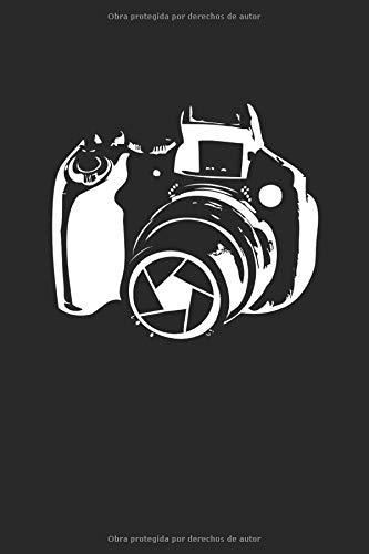 Fotografía de cámara vintage: Cuaderno de obsequios para cámara digital forrado (formato A5, 15,24 x 22,86 cm, 120 páginas)