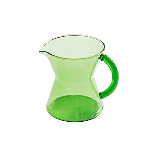 Jarritas para leche/Salsa jarra Copa de cristal pequeño de la leche con la manija, resistente al calor Pitcher Pico café taza de leche de miel leche, el vidrio Barco de salsa Salsera ( Color : B )