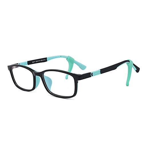 WEIDD Gafas De Filtro De Luz Azul, Gafas De Pantalla, Ojos De Juego Gafas De Luz Anti-Azul Para NiñOs CóModas Gafas De Silicona De Dos Colores Anti-RadiacióN Reloj TeléFono MóVil-C11_Anti-Luz