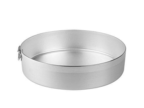 Pentole Agnelli Tortiera Alluminio cilindrico cm30 Pasticceria e Cake Design, Argento, 30 cm