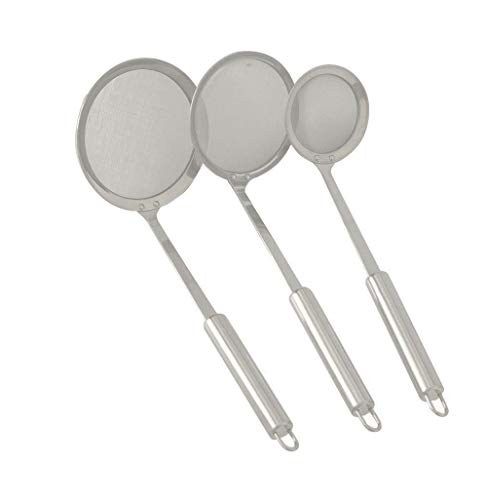 KINGSUPER Hot Pot Fat Skimmer Spoon Stainless Steel Mesh Food Strainer for Oil Filter Skimming Grease and Foam