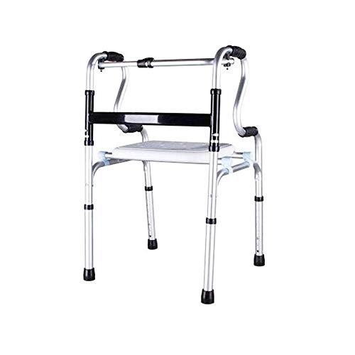 YUIOLIL Bastón Plegable, Andador bariátrico con muleta, Equipo Sanitario de aleación de Aluminio, rehabilitación de Bastones de Trekking, Ajustable 74-92Cm 🔥