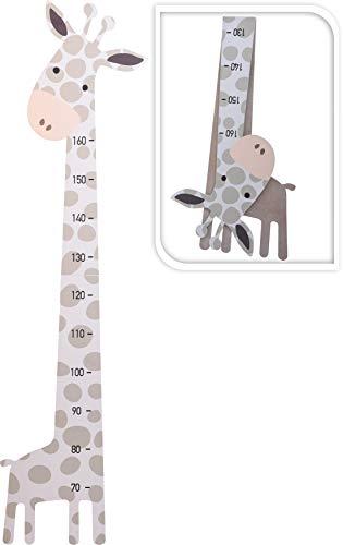 Messleiste Messlatte Kinderzimmer Kinder Giraffe Grau/Weiß Holz 70-160cm H430