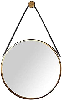 Daily Necessities Retro Mirror Round with Metal Frame Wall Mounted Hanging Vanity Make Up Mirror Medium Dressing Cosmetic Mirror (Size : 50cm) (Size : 50cm)