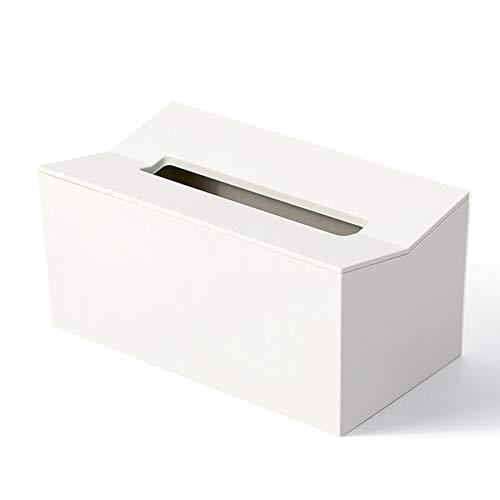 Cuasting Caja de pañuelos de cocina cubierta servilletero para toallas de papel caja para servilletas dispensador de pañuelos contenedor montado en la pared para toallitas blancas