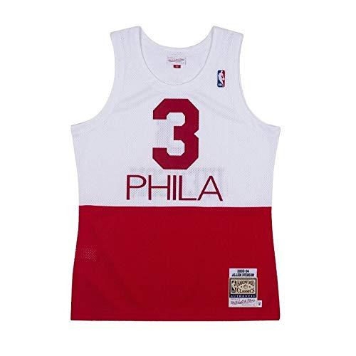 Mitchell & Ness - Maglia NBA Allen Iverson Philadelphie Sixers 2003-04 Hardwood Classic, colore: Bianco