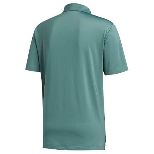 adidas Golf Mens Ultimate365 2.0 Crestable Polo Shirt - Tech Emerald - L
