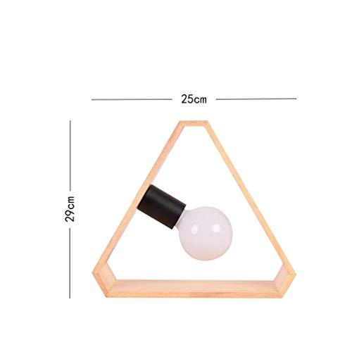 WHKFD Modem Semplice Creativo Migliore Design dans Legno Massello et Son LEDs Apprendre Le Manuel Manuel Luce Bagnata, H29Cm * W25Cm