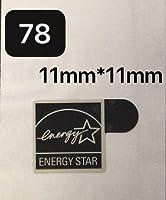 78#新品、未使用 ■11mm*11mmミ ニサイズ【ENERGY STAR黒】エン ブレムシール