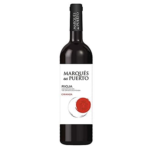 Vino Tinto Marques del Puerto Crianza de 75 cl - D.O. Rioja - Bardinet (Pack de 1 botella)