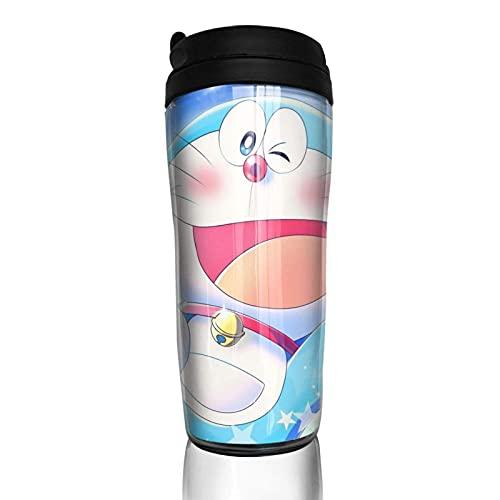 KINGAM Dibujos animados Do-raemon taza de café de doble pared taza de vacío botella aislada vasos portátiles tazas de viaje 350ml