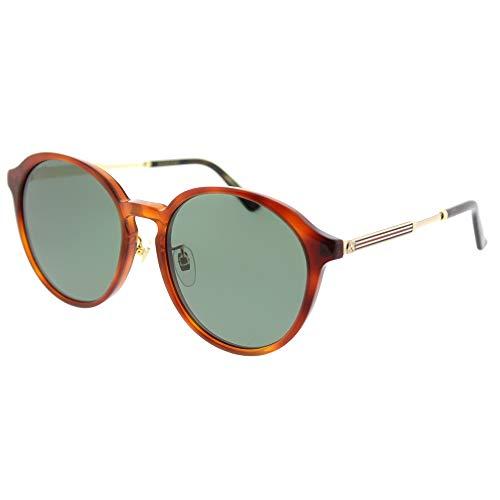 Gucci GG0205SK 004 Gafas de sol, Marrón (4/Green), 57 para Mujer