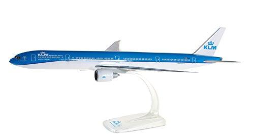 herpa 610872, blau/weiß 610872-KLM Boeing 777 300ER, Miniatur zum Basteln, Sammeln und als Geschenk