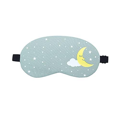 ZHZHUANG 2 piezas de ojos de dibujos animados cubierta de ojo de viaje banda de ojo dormir parche sueño, Gn, 19,5 cm x 10 cm