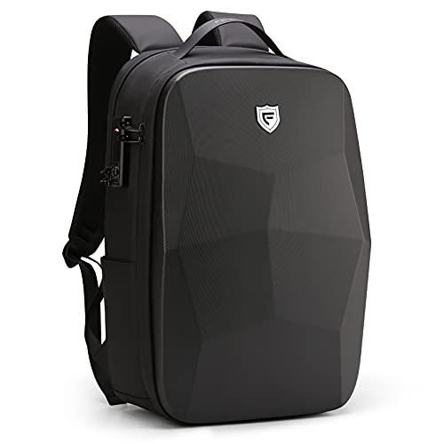 FENRUIEN 25L 17.3 Zoll Laptop Rucksack,WasserdichtBusiness Notebook Backpack mit USB-Ladeanschluss,Anti Diebstahl Daypack mit Laptopfach für Schule/Reisen /Arbeit,Schwarz