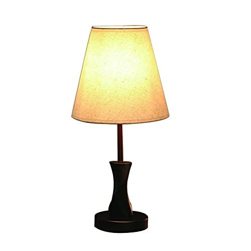 Lámpara De Mesa Led Pequeña, Tipo De Enchufe, Atenuación De Tres Etapas, Dormitorio De Protección Del Medio Ambiente De Arte De Madera Simple, Lámpara De Noche Creativa De Madera Maciza Para Oficina