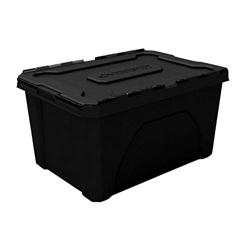 Husky 18 Gal Flip Top Storage Tote Constructed of A Durable Plastic Material for Long-Lasting Storage Use