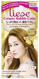 LIESE Creamy Bubble Color Biscuit Beige 1's -Massage Foam into Hair,and it transforms into Thick, Creamy Foam