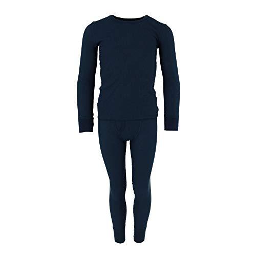 Fruit of the Loom Boys Waffle Thermal Underwear Set, Blue, Medium 8