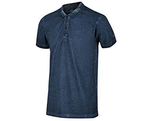 Regatta Polo 100% Coton Organique écologique Taiden boutonné au Cou T-Shirts Vests Homme, Dark Denim, FR : 3XL (Taille Fabricant : XXXL)