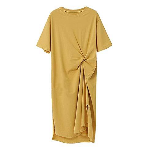 N\P Vestido Casual De Verano Grande Camiseta Larga Falda