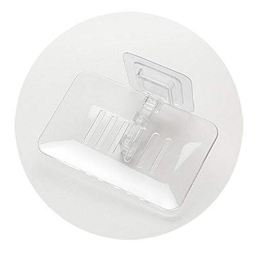 No-Branded Bathroom Accessory Bathroom Shower Soap Dishes Drain Sponge Holder Wall Mounted Storage Rack Soap Box Organizer Container YUXUJ (Color : White, Size : Free)