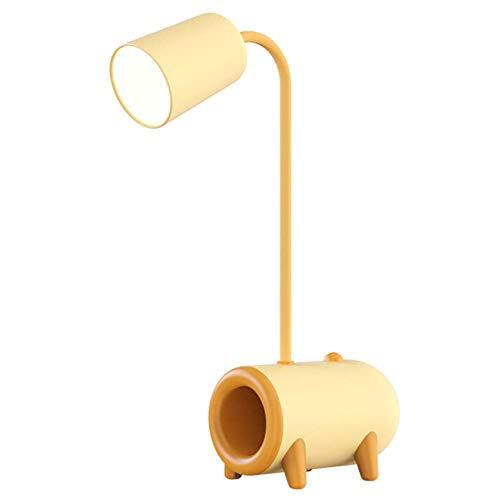 HCFSUK Lámpara de Mesa para niños, lámpara de Mesa con protección Ocular LED, Carga y enchufable de Doble Uso